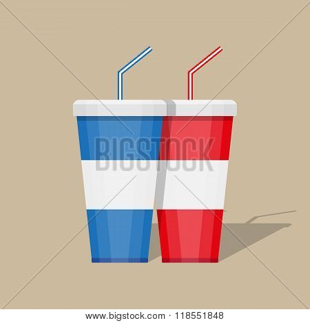 paper cup template for soda
