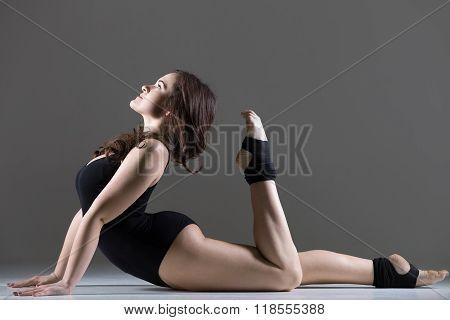 Young Dancer Woman In Beautiful Pose