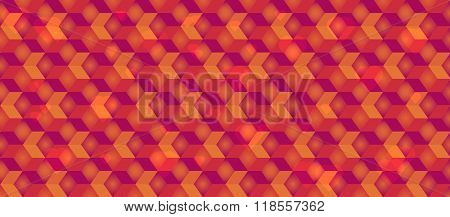 Bright colorful cubic vector background