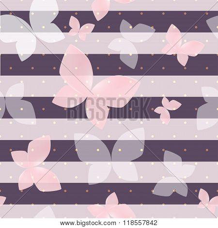 Elegant Soft Pink Color Butterfly
