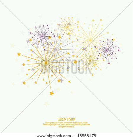 Abstract background with flashes of salute.