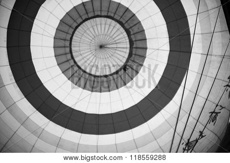 Inside View Of A Hot Air Balloon