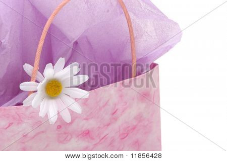 Shopping bag with white daisy