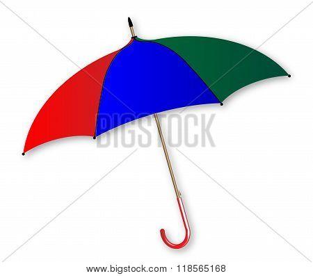 Umbrella Over White