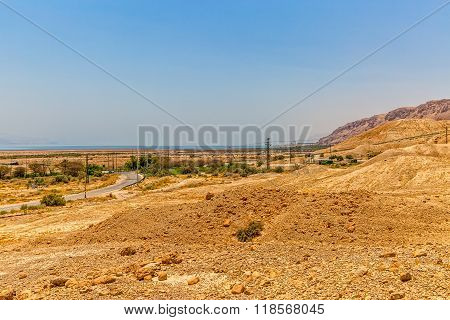 Israel sandy road