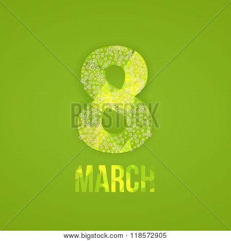 Postcard to March 8. Happy Women's Day background.