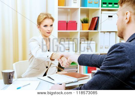 Business people shaking hands. Agreement, partnership concept.