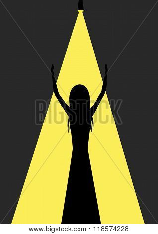 Woman silhouette illustration
