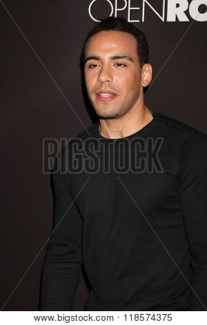 LOS ANGELES - FEB 16:  Victor Rasuk at the Triple 9 Premiere at the Regal 14 Theaters on February 16, 2016 in Los Angeles, CA