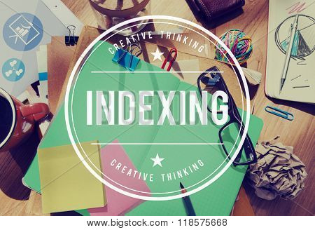 Indexing Listing Record Strategy Banking Concept