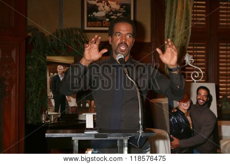 LOS ANGELES - FEB 12:  Kristoff St John at the Kristoff St John celebrates 25 Years at YnR at the CBS Television City on February 12, 2016 in Los Angeles, CA