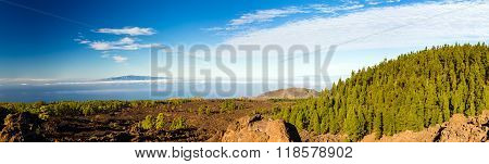 Mountains Beautiful Inspirational Landscape Panorama, Islands And Ocean