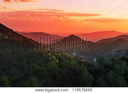 Scenic view of the mountains in Cyprus