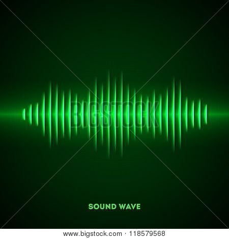 Paper sound waveform with shadow
