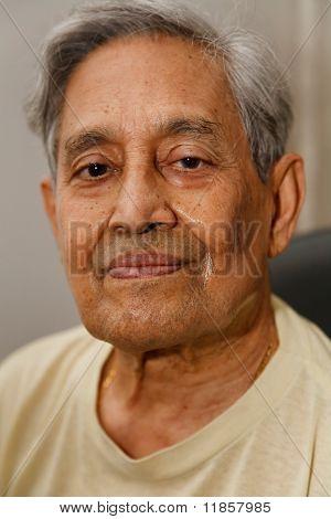 Indian Man Gray Hair