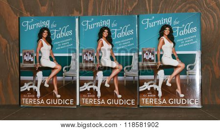 HUNTINGTON, NY-FEB 16: TV personality Teresa Giudice signs copies of her book,