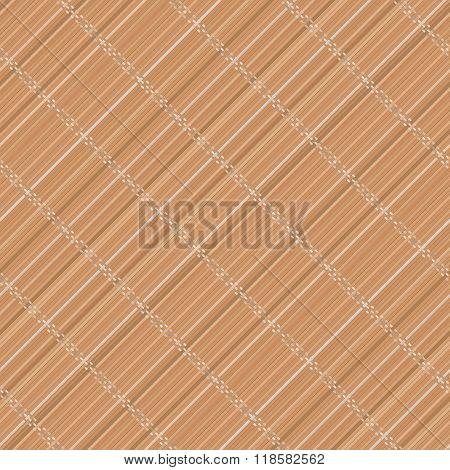 Japanese Bamboo Mat. Diagonal. Seamless Pattern.