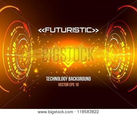 sci-fi abstract technology background for futuristic high tech design - vector