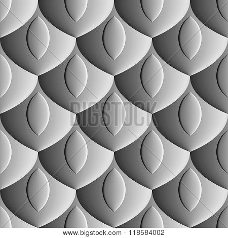 Seamless abstract background - scales embossed design.