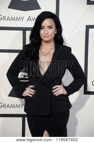Demi Lovato at he 58th GRAMMY Awards held at the Staples Center in Los Angeles, USA on February 15, 2016.