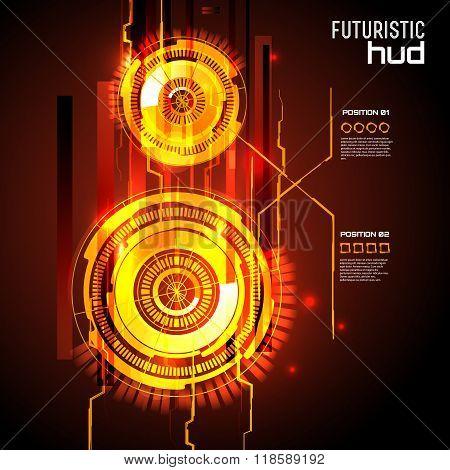 Futuristic interface, HUD,  imfographics ,vector