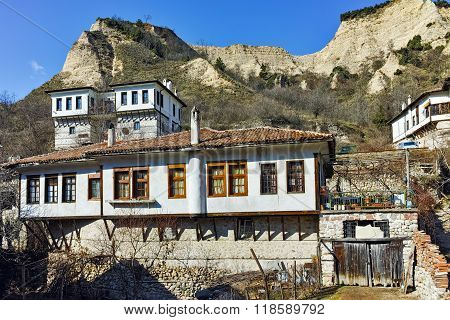 Old Houses from nineteenth century in town of Melnik, Bulgaria