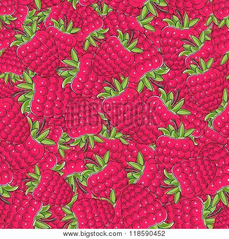 Seamless Raspberries Pattern