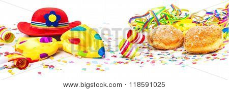 Carnival Decoration, Donuts, Hat, Banner