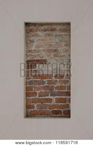 Rred brick fragment