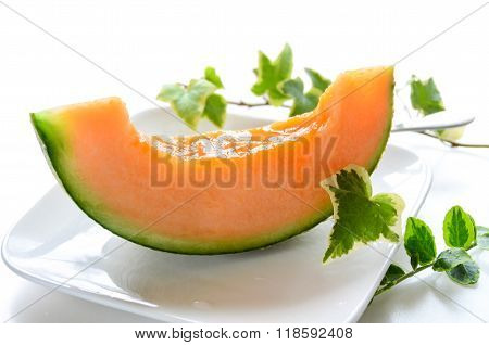 melon with ivy