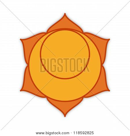Symbol Of The Second Chakra, Illustration