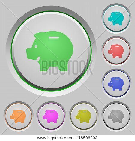 Piggy Bank Push Buttons