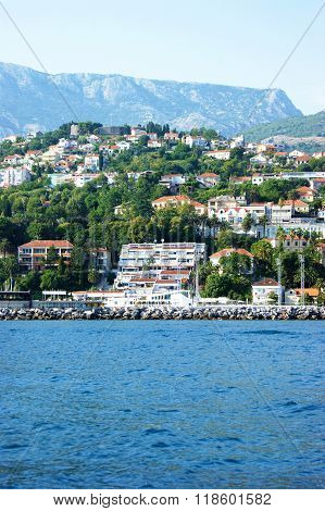 View Herceg Novi from the sea