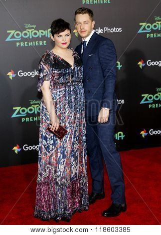 Ginnifer Goodwin and Josh Dallas at the Los Angeles premiere of 'Zootopia' held at the El Capitan Theater in Hollywood, USA on February 17, 2016.