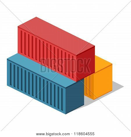 Isometric 3d Container Delivery