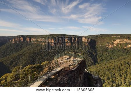 Early Morning At Pulpit Rock Blue Mountains Australia