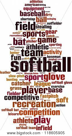 Softball Word Cloud