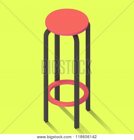 bar chair isolated perspective view.