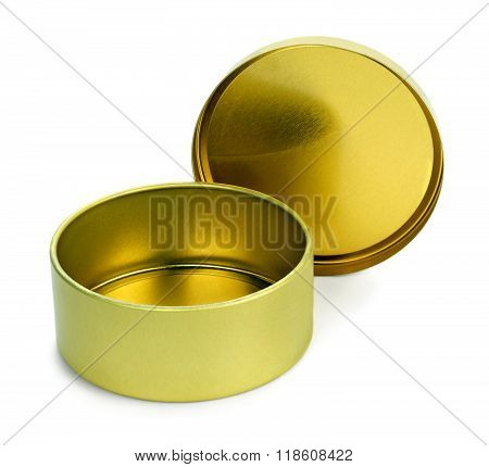 Empty  tin box for candies