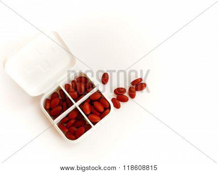 iron supplement in pill box