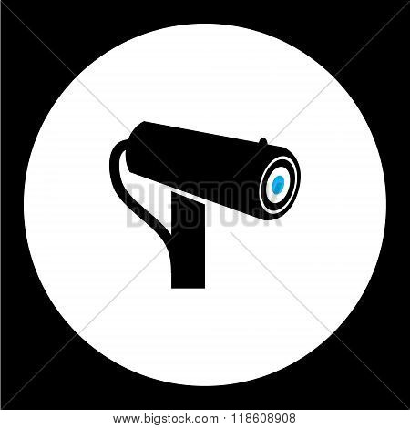 Simple Security Cam Isolated Black Icon Eps10
