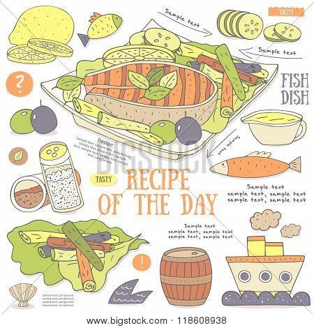 Background with fish steak