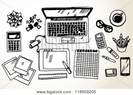Workplace with Laptop