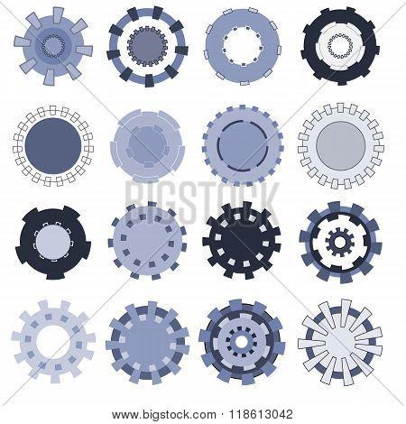 Set Of Sixteen Different Gears