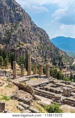 The Temple Of Apollo In Delphi