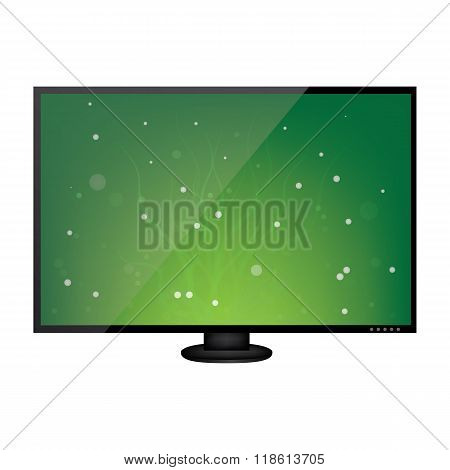 LCD monitor isolated on white background