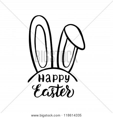 Happy Easter Lettering Typography Poster