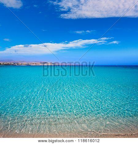 Costa Calma beach of Jandia Fuerteventura at Canary Islands of Spain