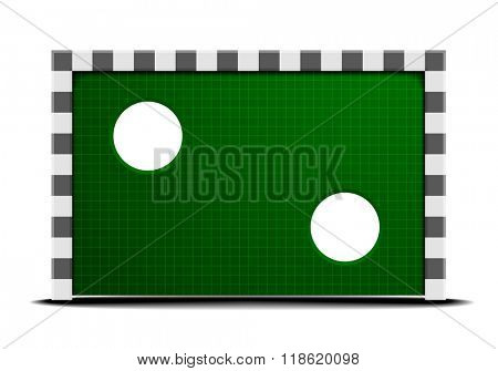 detailed illustration of a soccer training wall, eps10 vector