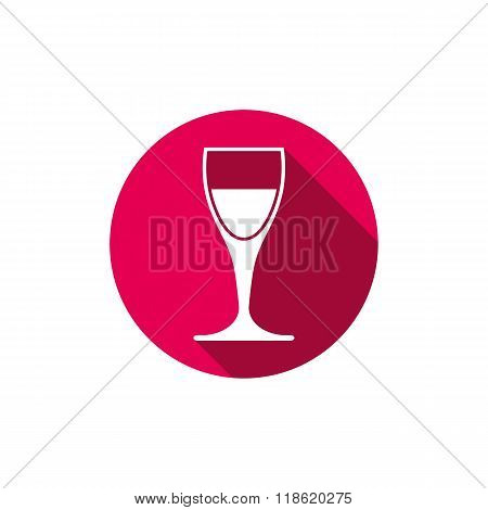 Winery Theme, Classic Wine Goblet Isolated On White. Wine Degustation Conceptual Symbol, Design Elem